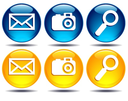 Search, picture, email icons Stock Vector - 11545728