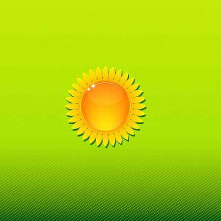 soft center: Bright and sunny background with stylized sunflower Illustration