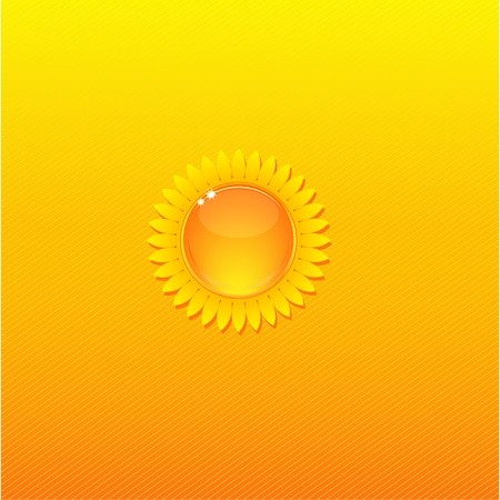 Sunny Background with stylized sunflower Vector