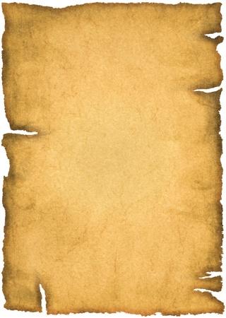 白い背景で隔離の古い羊皮紙 写真素材