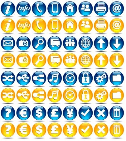 Conjunto básico de web moderno / iconos de aplicaciones móviles