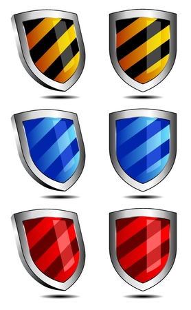 2D and 3D shields antivirus security protection firewall Stock Vector - 13443181