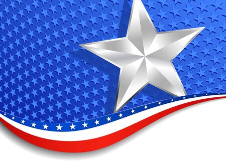 Stars and Stripes Silver Star American Background Vector