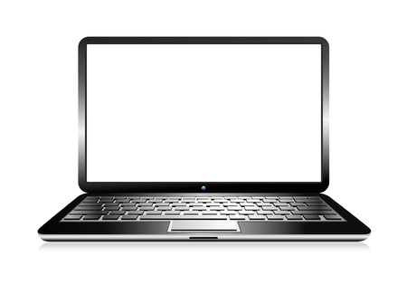 laptop screen: Laptop Computer PC with space for your message Illustration