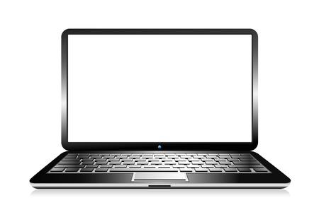 computadora: Ordenador PC portátil con el espacio para su mensaje