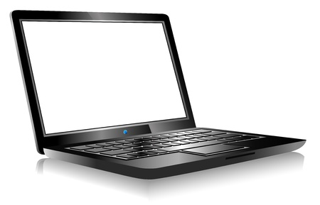 3D Laptop PC Computer with space for your message Vector