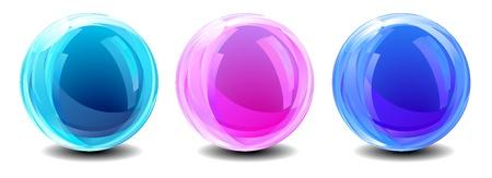 Trois Globes abstraits Vecteurs