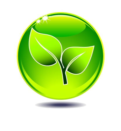 sustainable design: Leaf Green Symbol