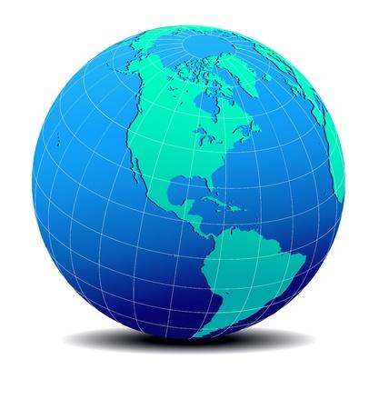 mapa de venezuela: Norte, Sur y Centro América, Global World Map