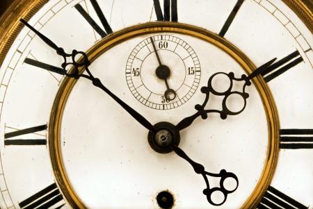 numeros romanos: Reloj antiguo Primer plano