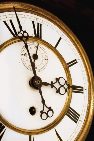 Vintage Victorian Old Clock Face with Roman Numerals Stock Photo - 19108967