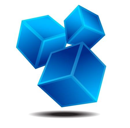 動的な正方形のロゴ ビジネスアイデンティティ コンセプト
