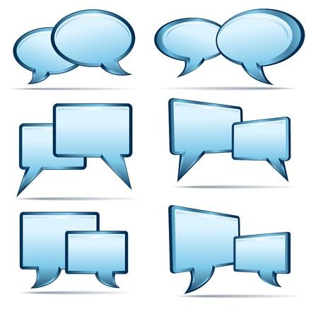 socializando: Silver Blue 3D y globos de texto en 2D
