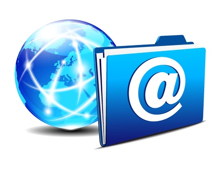 email folder and communication Internet World Europe Stock Vector - 19796249