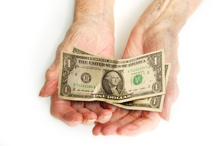 Money in Hands Stock Photo - 20045287