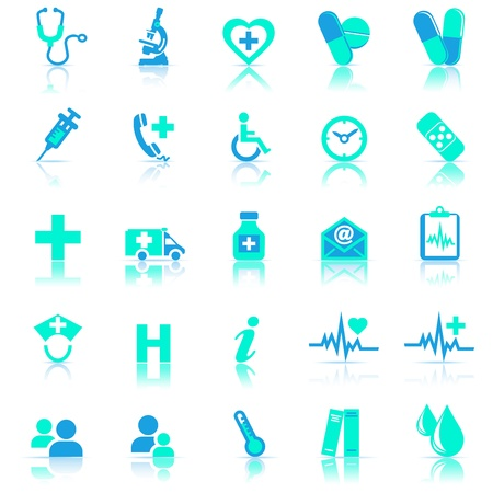 Health Care Icons for use in your products and presentations Vector