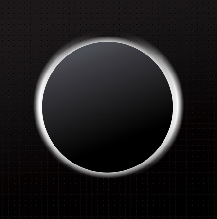 Graphic Black Background with Circle of White Light Stock Vector - 20695524