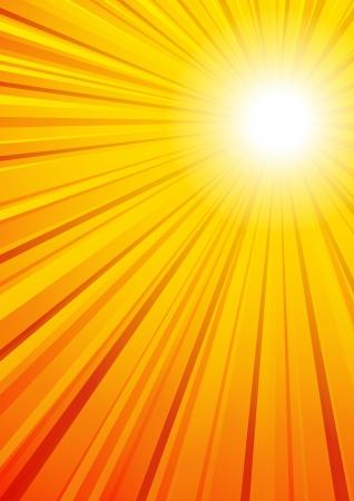 日当たりの良い背景ベクトル ファイルは光線の完全な円