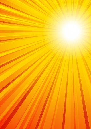 Sunny Background Vector File has a complete circle of Rays