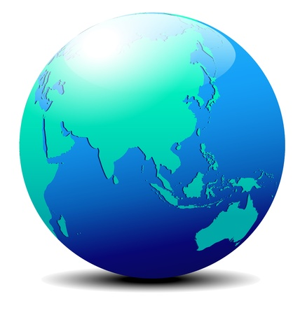 mapa: China y Asia, Global Mundial