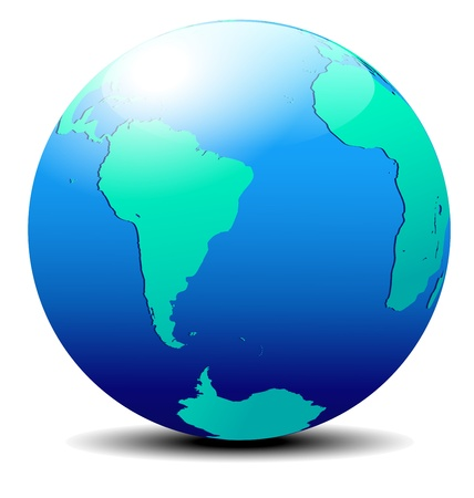 South America and Africa Global World Vector