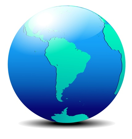 South America Global World Vector