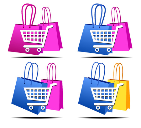 Selection of Shopping on the Internet Icons Stock Vector - 22709620