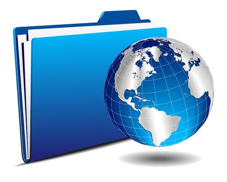 hub computer: Earth Globe with Folder