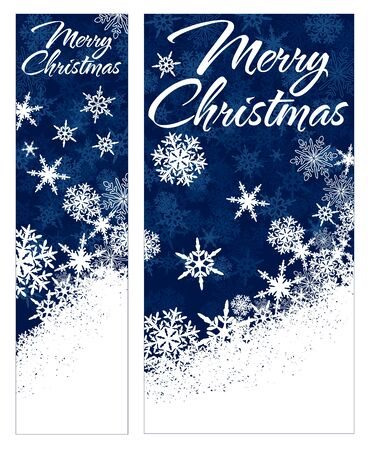 Snowflakes - Snowflake Web Banners with Copy Space Stock Vector - 23210499