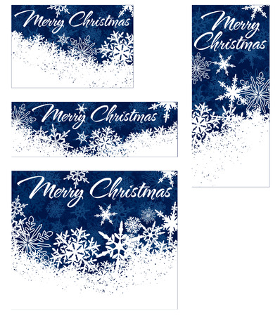 Snowflakes - Snowflake Web Banners with Copy Space Vector