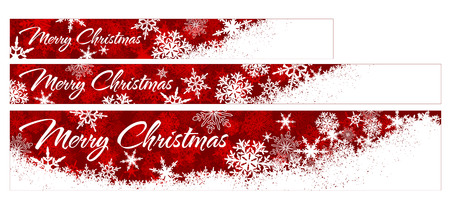 Snowflakes - Snowflake Web Banners with Copy Space Stock Vector - 23210502