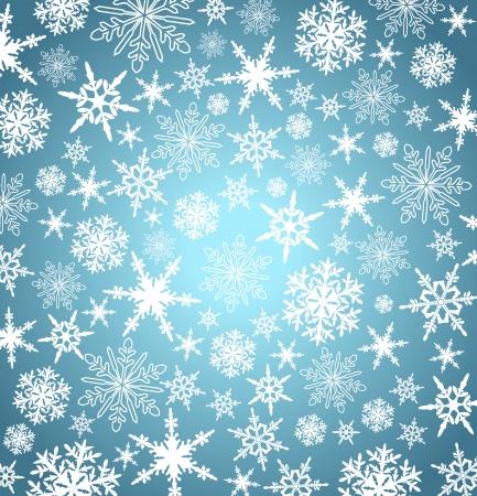 Gestileerde Kerst sneeuwvlokken - Abstract vector achtergrond