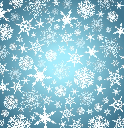 Stylized Christmas snowflakes - Abstract vector background