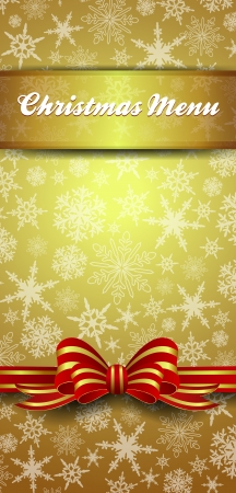 Christmas Menu Snowflakes - Gold Snowflake Background Vector