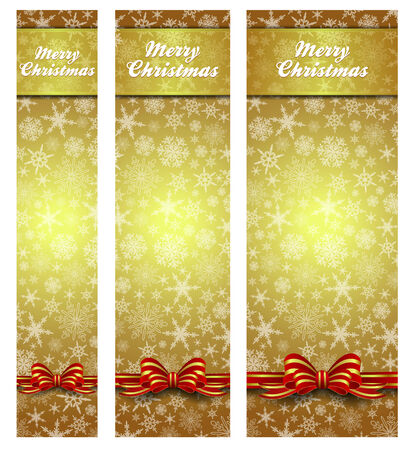 web banner: Christmas Web Banner Snowflakes - Snowflake with Copy Space