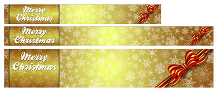 Snowflakes - Snowflake Web Banners with Copy Space Stock Vector - 24257446