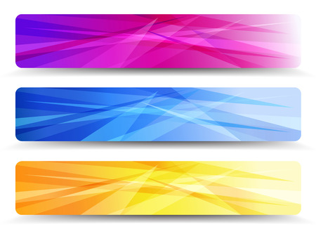 A modern set of banners with abstract  Vector