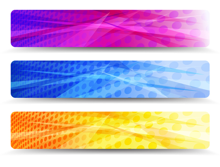 A modern set of vector banners with abstract background  Stock Vector - 24987349