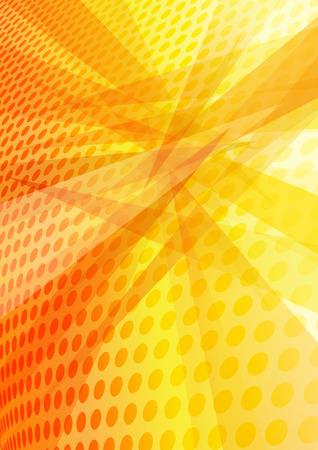 intense: Orange Background layered circles interposing angles creating an abstract pattern Illustration