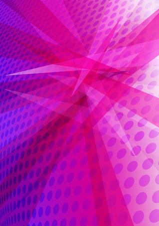 intense: Purple Magenta Background layered circles interposing angles creating abstract pattern Illustration