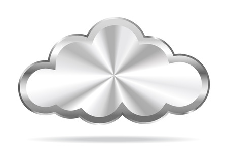 sistemas: Cloud Computing - Icono de la nube virtual Vectores