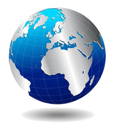 Europe Silver Global World  일러스트