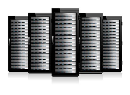 hub: Cinq Serves - Technologies de l'information image conceptuelle Illustration