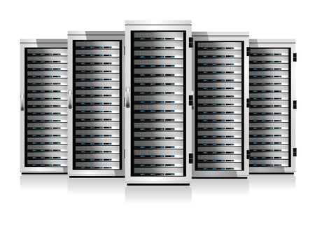 Five Serves - Information technology conceptual image Vector