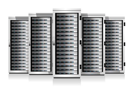 Vijf Serveert - Informatietechnologie conceptueel beeld Stock Illustratie
