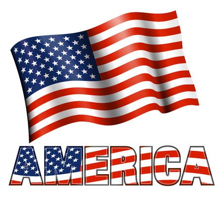 Stars and Stripes Patriottische Banner USA