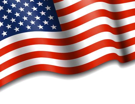 Amerikaanse Sterren en Strepen Achtergrond Stock Illustratie