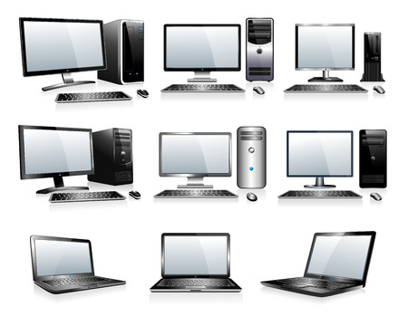 3D and 2D Computers Vector