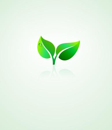 Stylized Green Leaf Design Environmental Background
