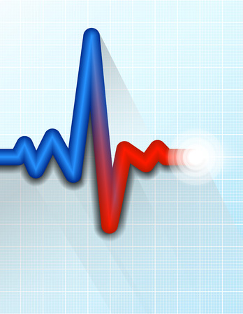 copy center: Heart Rate Pulse Tracing Medical Symbol Background
